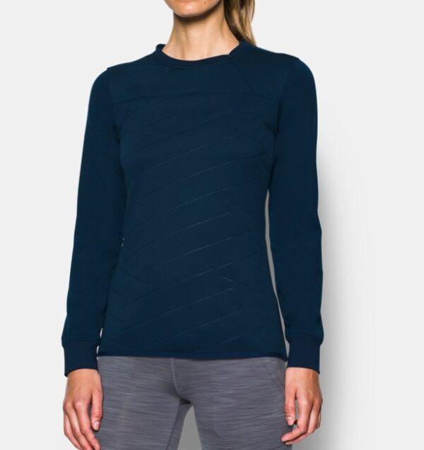 Camiseta de manga larga con media cremallera ColdGear® Reactor Hybrid para mujer de Under Armour